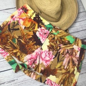 J.Crew retro Hawaiian print stretch shorts